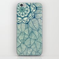 Emerald Green, Navy & Cr… iPhone & iPod Skin