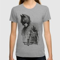 Bat In Black (The Dark K… Womens Fitted Tee Athletic Grey SMALL