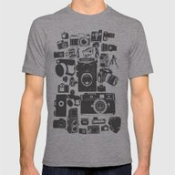 Cameras Mens Fitted Tee Athletic Grey SMALL