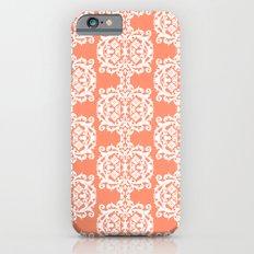 Behind Damask - Peach iPhone 6 Slim Case