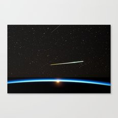 Chelyabinsk bolide moving at a speed of about 20 km/s. Canvas Print