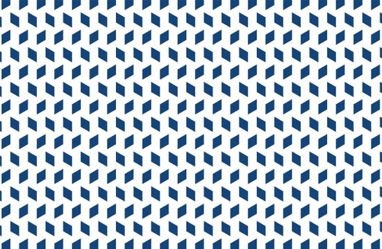 rhombus bomb in monaco blue Art Print