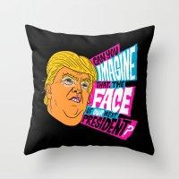 Trump Face Throw Pillow