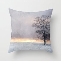 Winter Sunrise, Wramplin… Throw Pillow