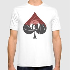 Casino Royale Minimalist Mens Fitted Tee White SMALL