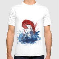 Ariel Splash Mens Fitted Tee White SMALL