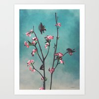 Hummingbears Art Print
