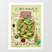 How To Make Spicy Pickle… Art Print