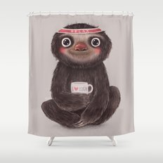 Sloth I♥yoga Shower Curtain