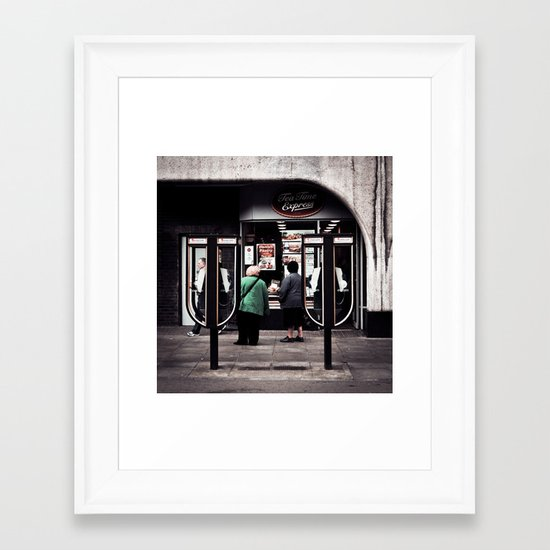 Time For A Nice Cup Of Tea And A Slice Of Cake Framed Art Print