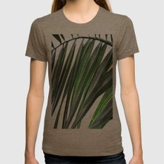 Palm nature Womens Fitted Tee Tri-Coffee SMALL