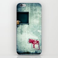 Big 'S' with window, pipe and red spray iPhone & iPod Skin