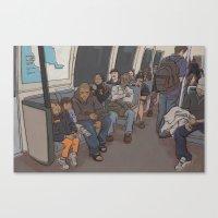 SUBWAY CROWD Canvas Print