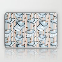 Cups Medley Blue Stripes Laptop & iPad Skin