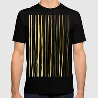 Vertical Living Navy and Gold Mens Fitted Tee Black SMALL