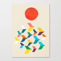 Great Bird Migration Canvas Print