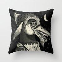 Bearded Fowl With Ambigu… Throw Pillow