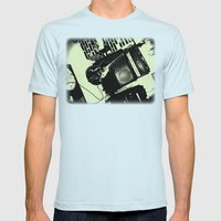 Shockin' White Light Guitar Mens Fitted Tee Light Blue SMALL
