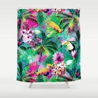 Exotic Vegetation Shower Curtain