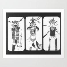 fashion show Art Print