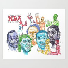 Steven Lebron's NBA Western Conference Preview Art Print