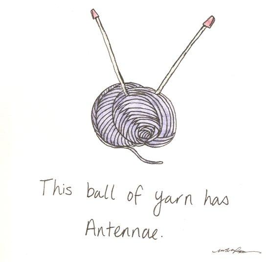 This Ball of Yarn has Antennae. Art Print