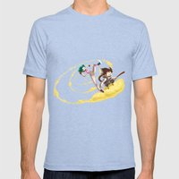 A Ride With Son Goku Mens Fitted Tee Tri-Blue SMALL