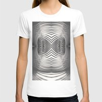 Paper Sculpture #9 Womens Fitted Tee White SMALL