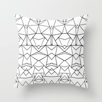 Abstraction Mirrored Throw Pillow