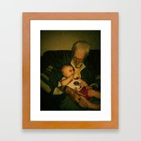 4 generations  Framed Art Print