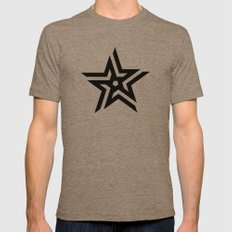 Untitled Star Mens Fitted Tee Tri-Coffee SMALL