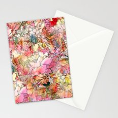 Summer Flowers   Colorful Watercolor Floral Pattern Abstract Sketch Stationery Cards