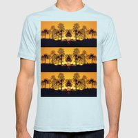 Six Sunsets Mens Fitted Tee Light Blue SMALL
