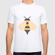 #81 Bee Mens Fitted Tee Ash Grey SMALL