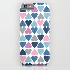 Diamond Hearts Pink Slim Case iPhone 6s