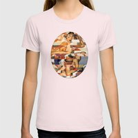 Glitch Pin-Up Redux: Natalie Womens Fitted Tee Light Pink SMALL
