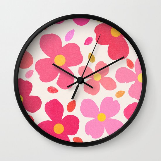Dogwood Pink Wall Clock