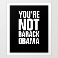 obama Art Prints featuring obama by mr tom sutton
