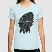 Chief / Black Edition Womens Fitted Tee Light Blue SMALL