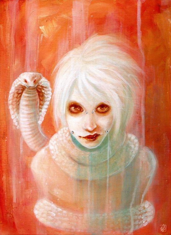 Cobra Albino Art Print