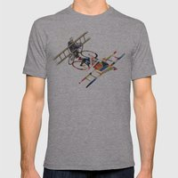 Walking Shadow, Bicyclist Mens Fitted Tee Athletic Grey SMALL