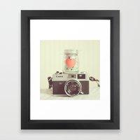Vintage Camera Love  Framed Art Print
