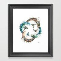 INKYFISH - Fish Circle #3 Framed Art Print