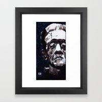 Frankenstein's Monnster Framed Art Print