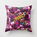 Panic Pattern Throw Pillow