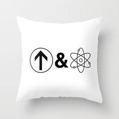 Up&Atom. Throw Pillow