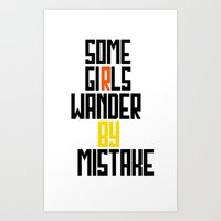 Some girls wander Art Print