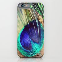 iPhone Cases featuring Peacock Eye by Amelia Kay Photography