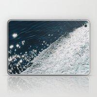 sea - midnight blue silk Laptop & iPad Skin