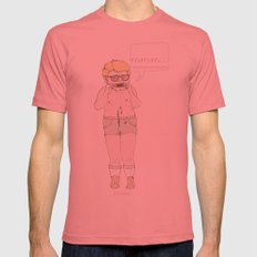 Mmm... Mens Fitted Tee Pomegranate SMALL